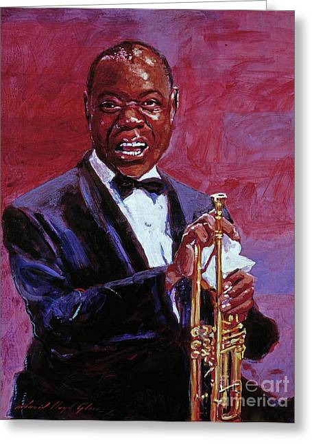 Pops Armstrong Greeting Card by David Lloyd Glover