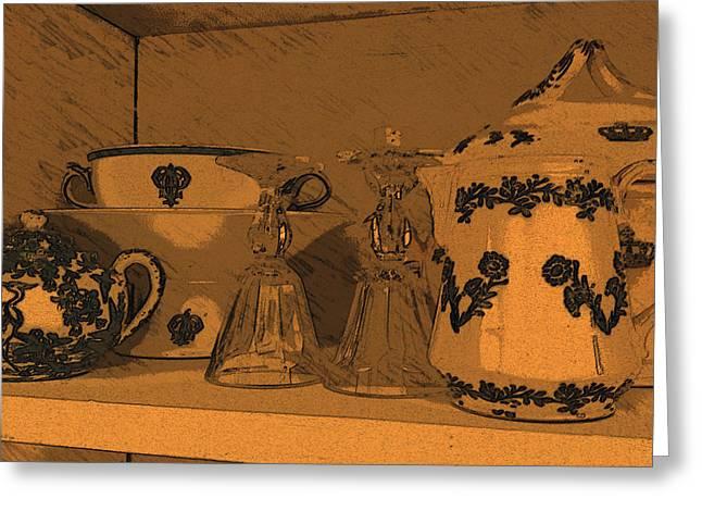 Porcellane E Bicchieri Greeting Card by Tila Gun