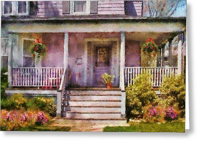 Porch - Cranford Nj - Grandmotherly Love Greeting Card by Mike Savad