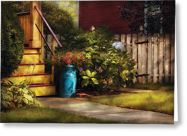 Porch - Summer Retreat Greeting Card by Mike Savad