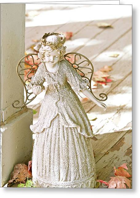 Porch Angel In The Fall Greeting Card
