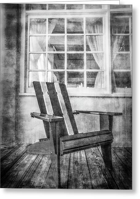 Porch Chair Greeting Card by Debra and Dave Vanderlaan