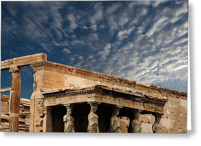 Porch Of The Caryatids Athens Greece Greeting Card