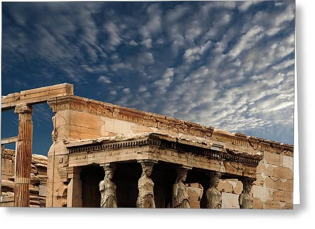 Porch Of The Caryatids Athens Greece Greeting Card