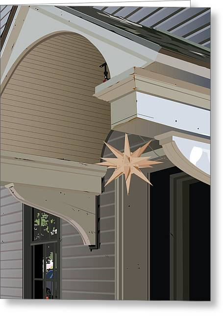 Porch Star Greeting Card by Bill Dussinger