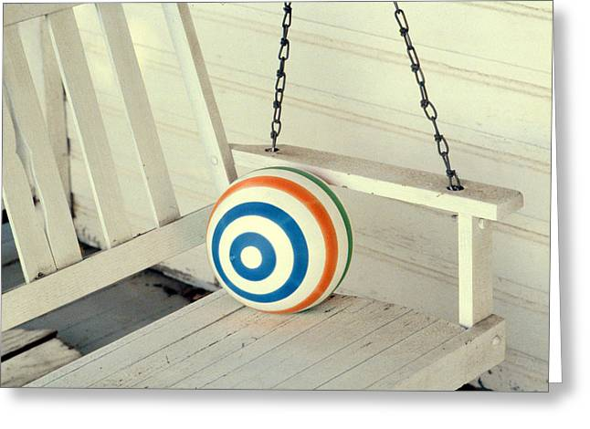 Ball chain greeting cards page 8 of 8 fine art america porch swing greeting card m4hsunfo