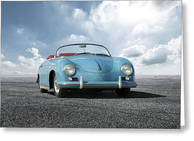 Greeting Card featuring the digital art Porsche 356 Speedster by Peter Chilelli