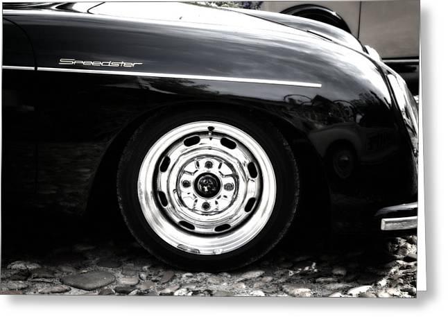 Porsche 356 Speedster Side View Front Greeting Card