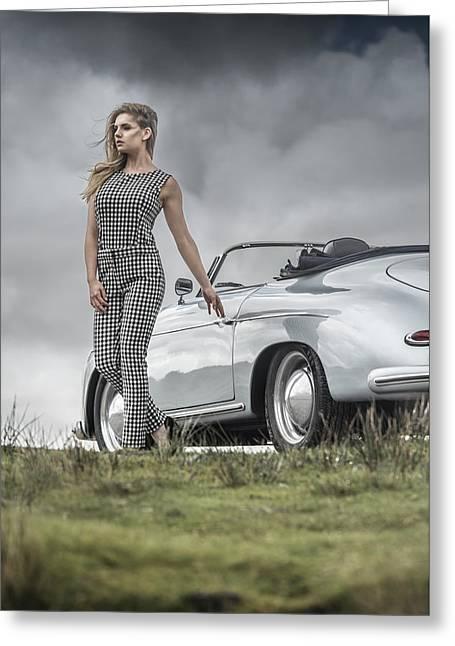 Porsche 356 Speedster With Model Greeting Card