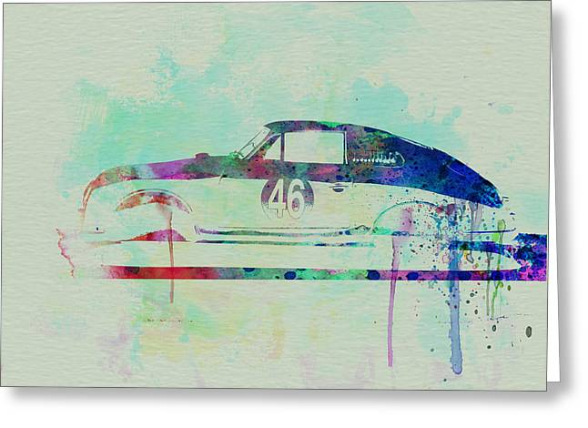 Porsche 356 Watercolor Greeting Card