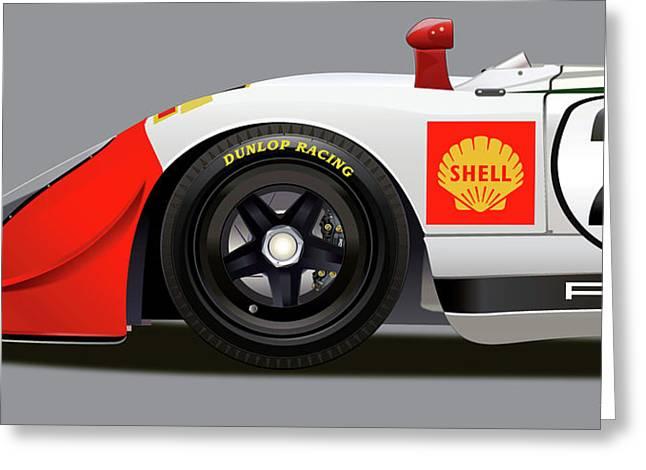 Porsche 908 Detail Illustration Greeting Card