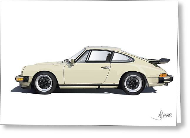 Stuttgart Greeting Cards - Porsche 911 Carrera Greeting Card by Alain Jamar