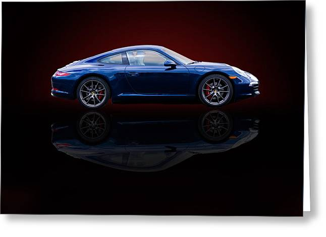 Porsche 911 Carrera - Blue Greeting Card
