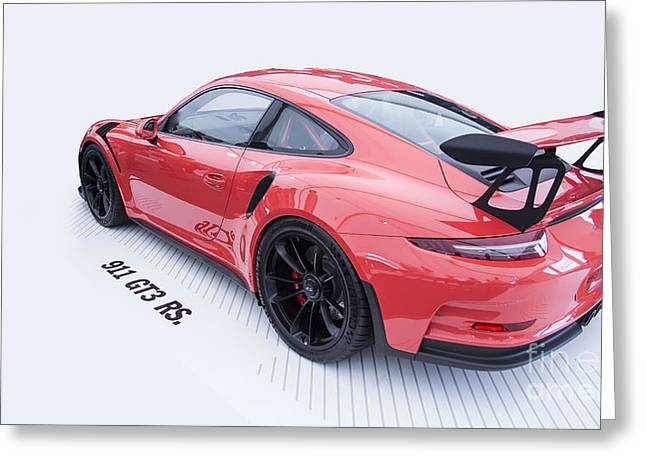Porsche 911 Gt3 Rs Greeting Card