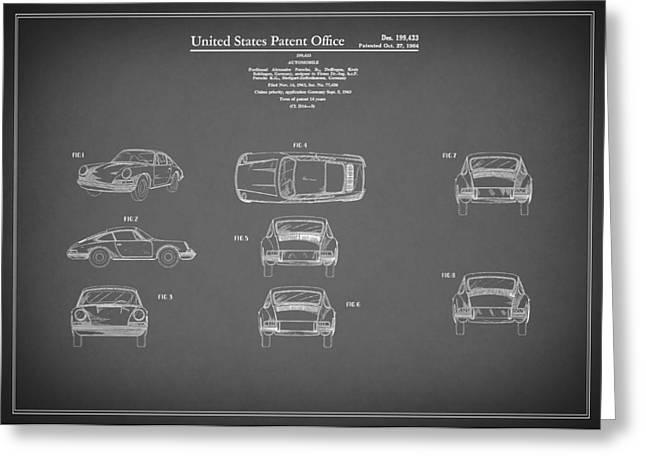 Porsche 911 Patent 1964 Greeting Card