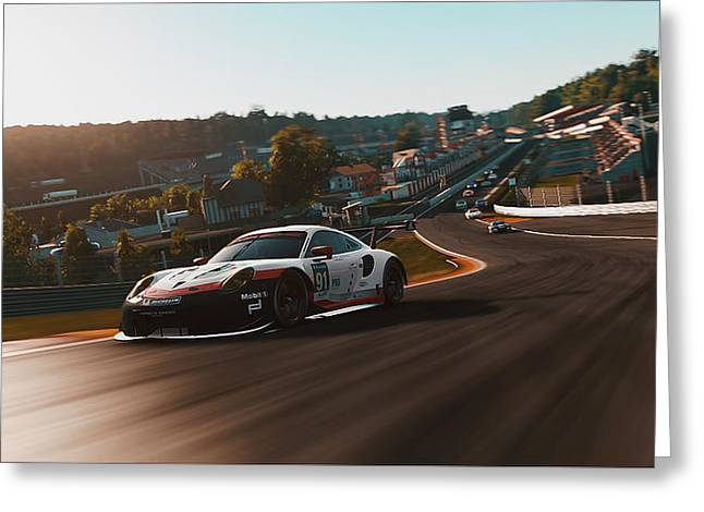 Porsche 911 Rsr, Spa-francorchamps - 33 Greeting Card