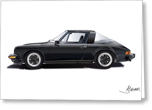 porsche 911 SC Targa Greeting Card by Alain Jamar