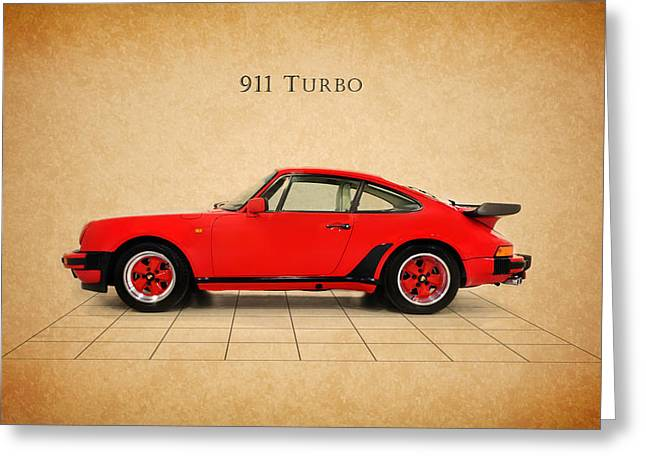 Classic Porsche 911 Greeting Cards - Porsche 911 Turbo 1985 Greeting Card by Mark Rogan