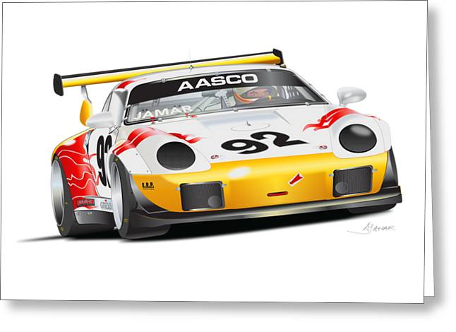 Porsche 911 Turbo Custom Greeting Card