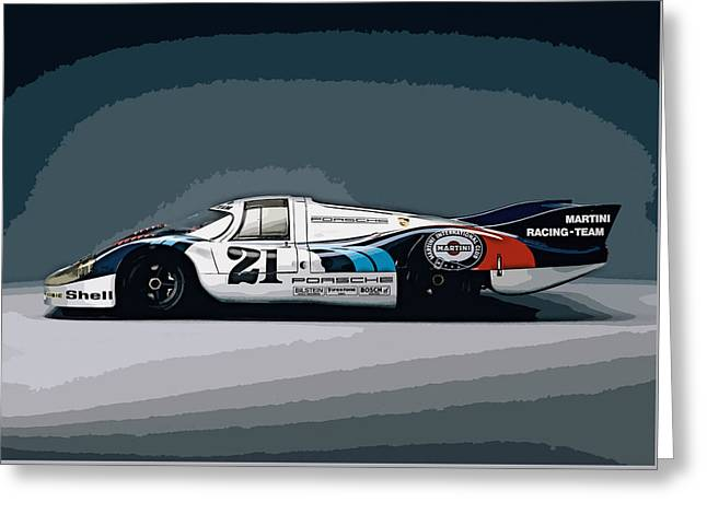 Porsche 917 Longtail 1971 Greeting Card