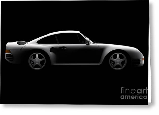Porsche 959 - Side View Greeting Card