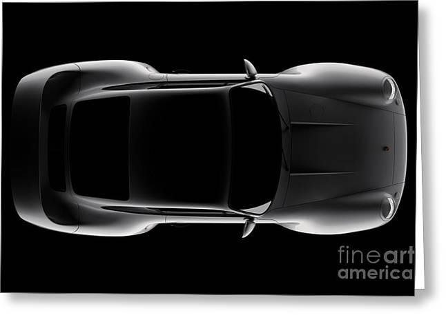Porsche 959 - Top View Greeting Card