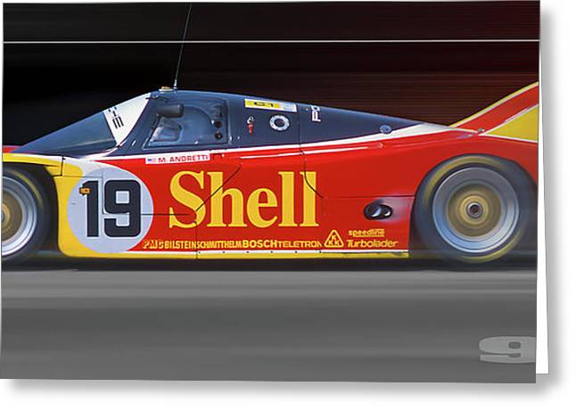 Porsche 962 Andretti Greeting Card