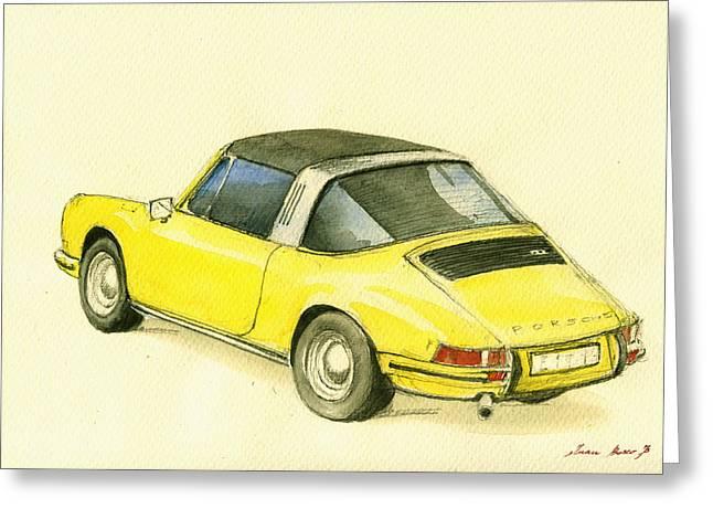 Porsche 993 Greeting Card by Juan  Bosco