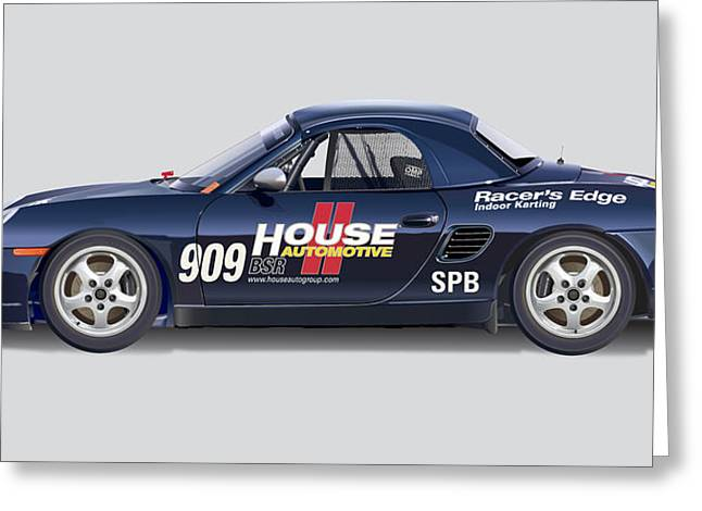 Porsche Boxster Racer Image Greeting Card