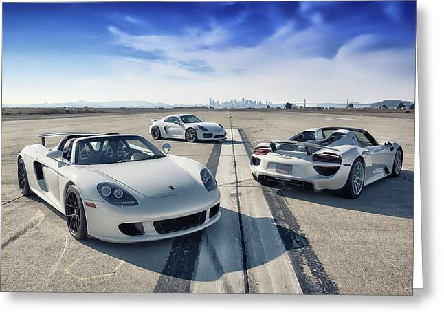 #porsche #carreragt,  #918spyder,  #cayman #gt4 Greeting Card