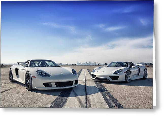 #porsche #carreragt And #918spyder Greeting Card