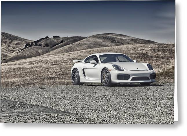 Porsche Cayman Gt4 In The Wild Greeting Card