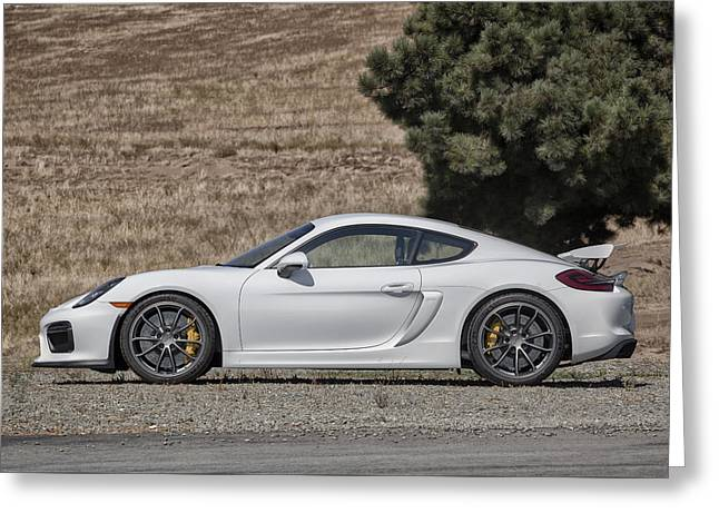 Porsche Cayman Gt4 Side Profile Greeting Card