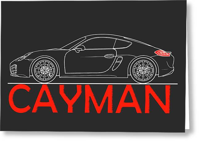 Porsche Cayman Phone Case Greeting Card