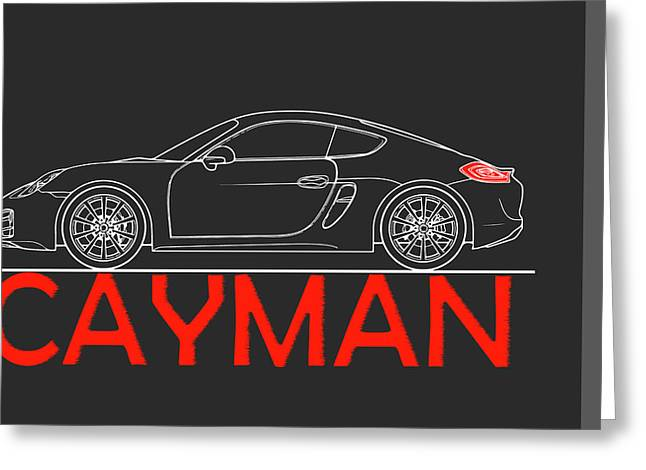 Porsche Cayman Phone Case Greeting Card by Mark Rogan