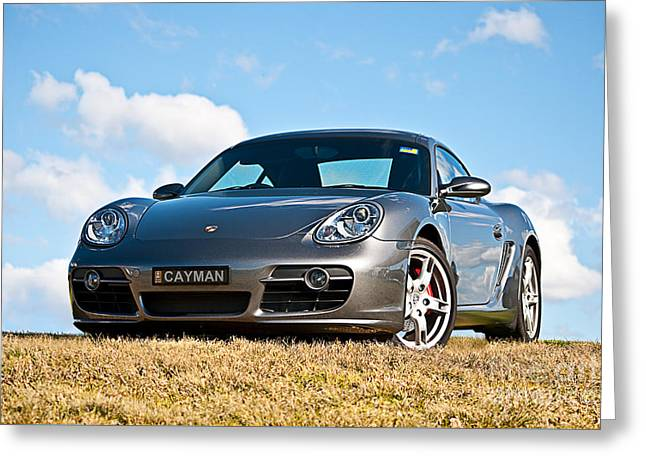 Porsche Cayman Greeting Card