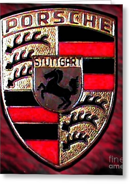 Porsche Emblem Greeting Card by George Pedro