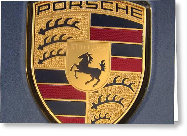 Porsche Emblem Greeting Card