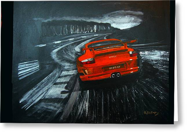 Porsche Gt3 Le Mans Greeting Card
