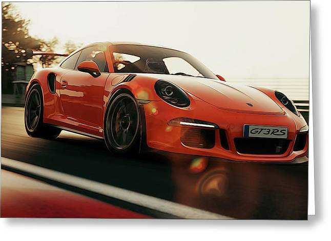 Porsche Gt3 Rs - 4 Greeting Card