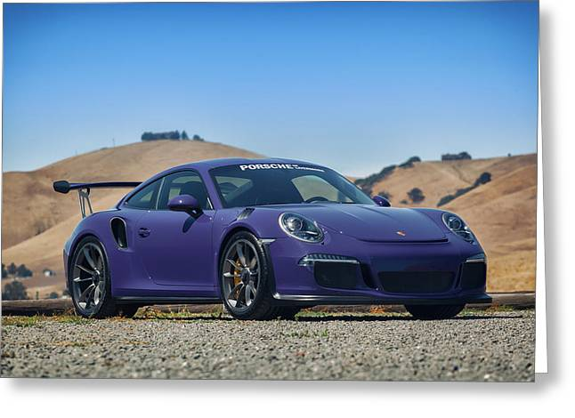 #porsche #gt3rs #ultraviolet Greeting Card