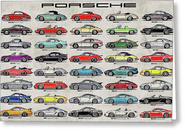 Porsche Poster Greeting Card