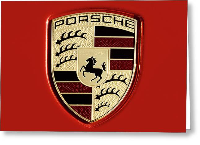Porsche Power Red 111216 Greeting Card