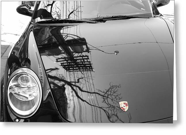 Porsche Reflections Greeting Card by Andrew Fare