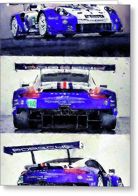 Porsche Rsr Le Mans 2018 - 02 Greeting Card