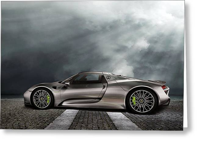 Porsche Spyder V2 Greeting Card by Peter Chilelli