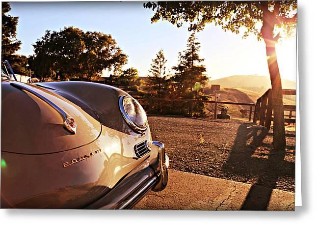 Porsche Sundown Greeting Card