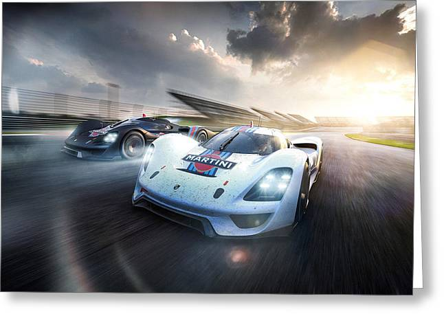 Porsche Vision Gt Concept 2016 Wide Greeting Card by F S