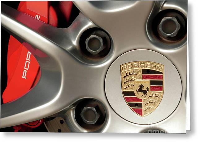 Porsche Wheel Detail #1 Greeting Card