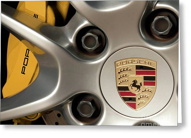 Porsche Wheel Detail #2 Greeting Card